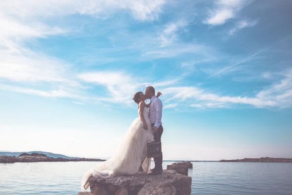 Un matrimonio country sulla spiaggia