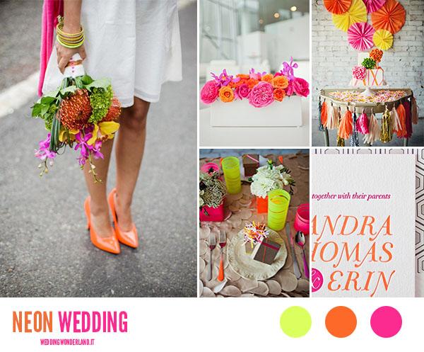 matrimonio fucsia e arancione neon | wedding wonderland