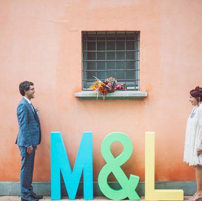 Un matrimonio pop e colorato