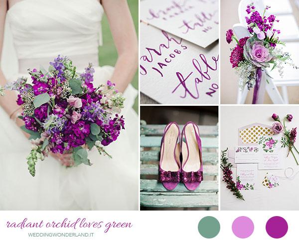 matrimonio radiant orchid e verde