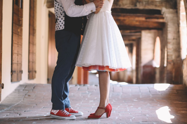 Un coloratissimo matrimonio rockabilly