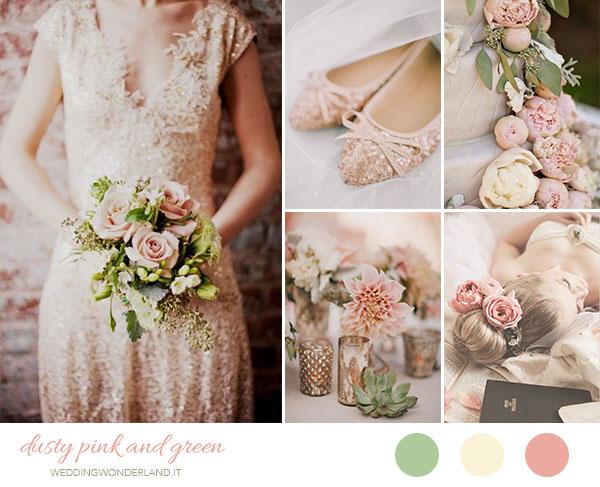 Matrimonio In Rosa : Inspiration board matrimonio rosa antico e verde