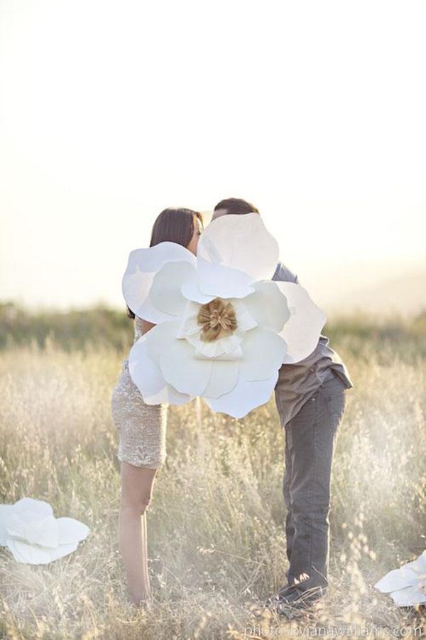 fiori di carta come props