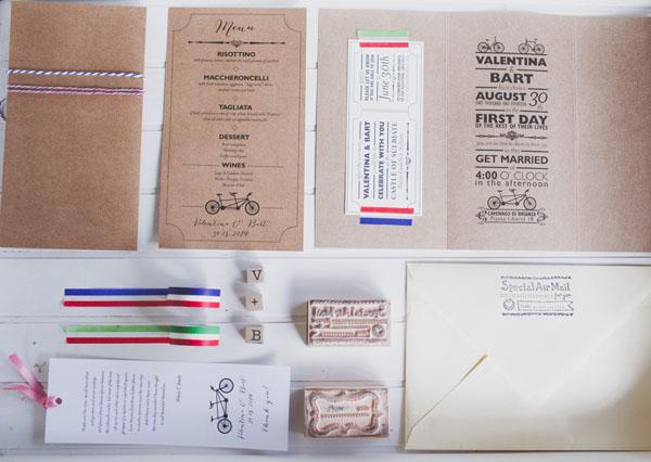 partecipazioni matrimonio in carta kraft