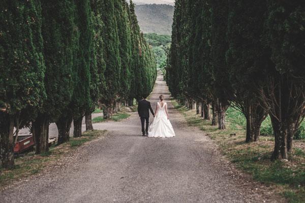 Un matrimonio all'aperto a Roma