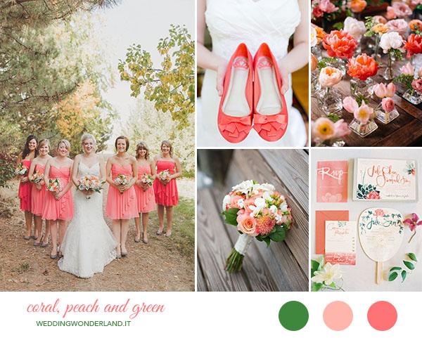 Matrimonio Tema Corallo : Inspiration board matrimonio corallo pesca e verde