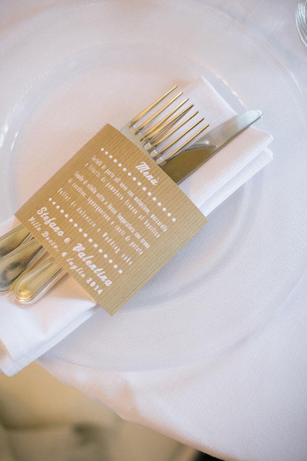 menù e porta tovagliolo in carta kraft