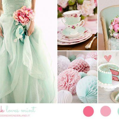Inspiration board: Vintage in rosa e menta