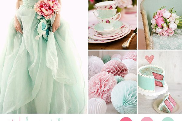 Inspiration board: Vintage in rosa e menta