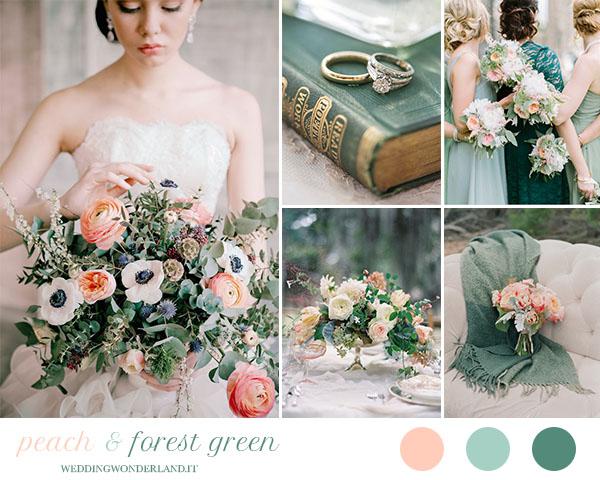 Matrimonio In Verde : Inspiration board matrimonio pesca e verde bosco