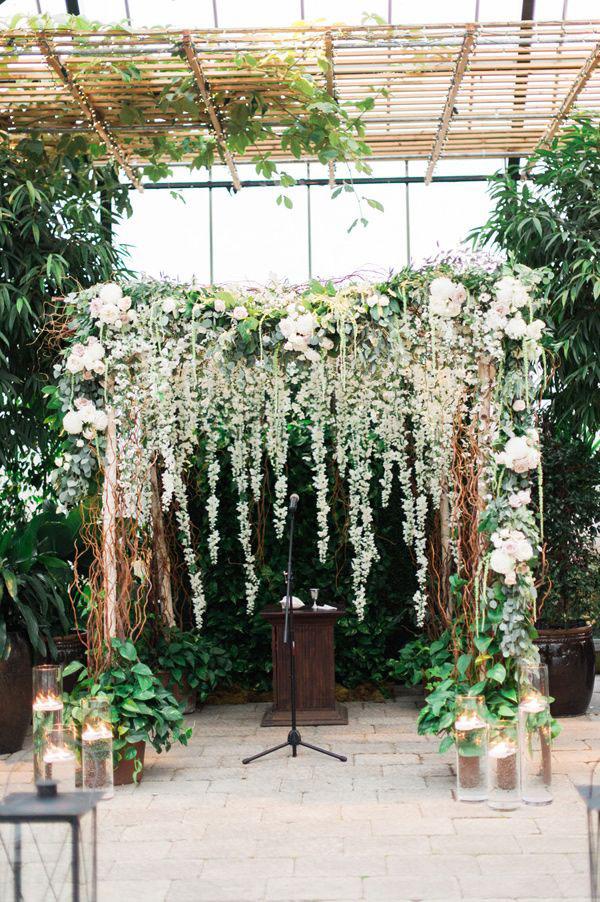 arco nuziale matrimonio botanico