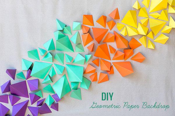 backdrop colorato geometrico