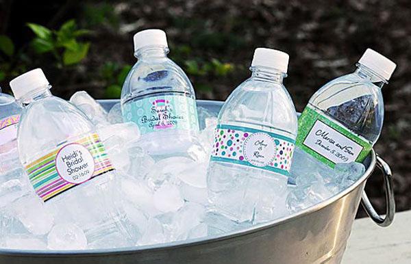 bottiglie d'acqua personalizzata matrimonio