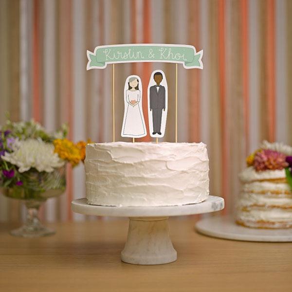 cake topper con sagome di carta