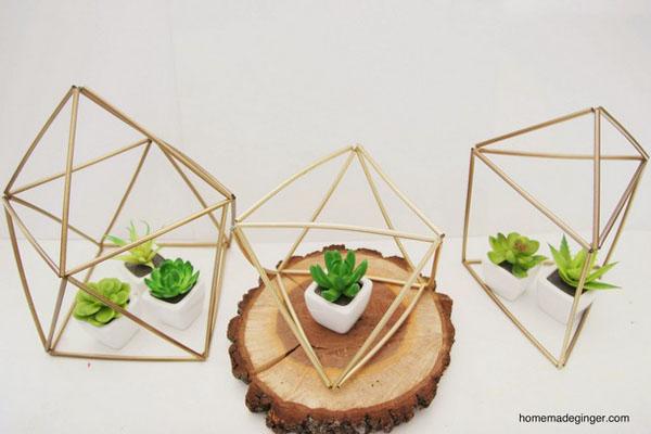 centrotavola matrimonio geometrico