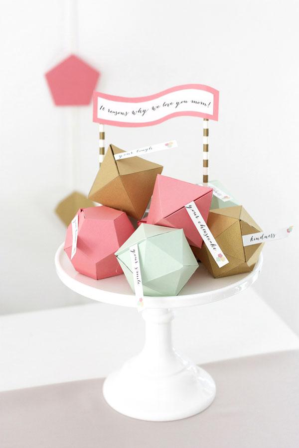 confezioni bomboniere geometriche