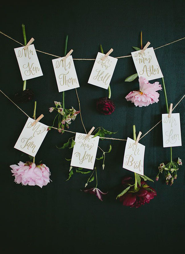 Segnaposto Matrimonio Semi Fiori.20 Idee Per Un Matrimonio Botanico Wedding Wonderland