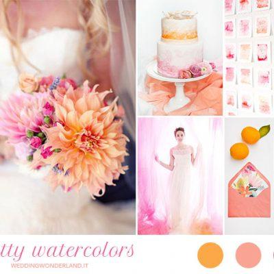 Inspiration board: arancione, corallo e fucsia