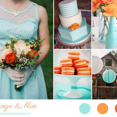 Inspiration board: arancione e azzurro