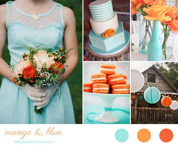 Matrimonio Oro E Azzurro : Matrimonio arancione e azzurro