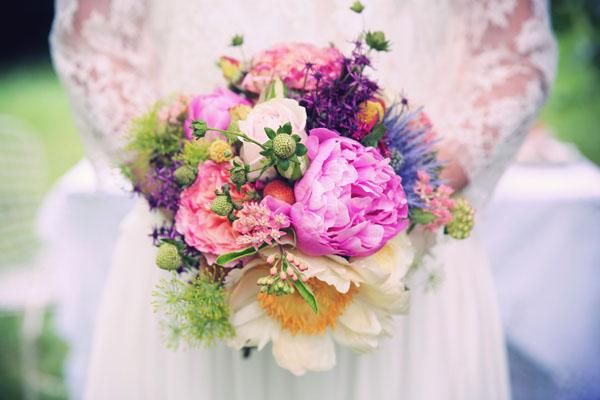 bouquet bohémien colorato