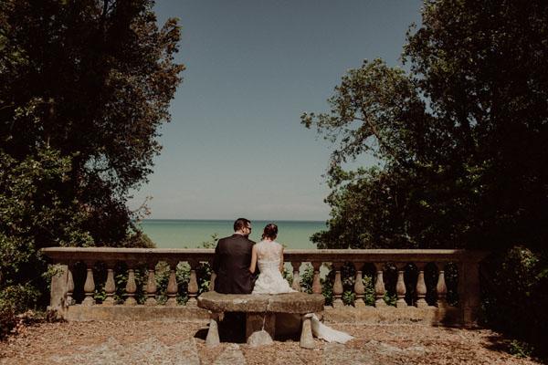 Dettagli verdi per un matrimonio delicato