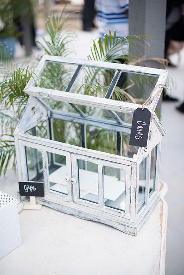 mini serra porta buste matrimonio botanico