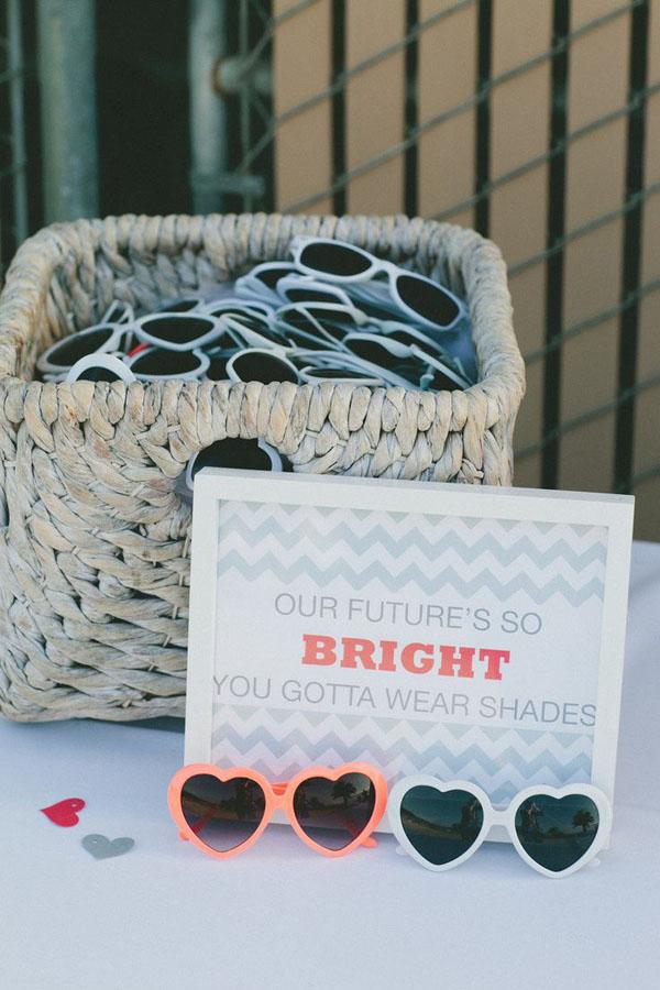 occhiali da sole matrimonio