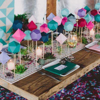 DIY: decorazioni geometriche fai da te