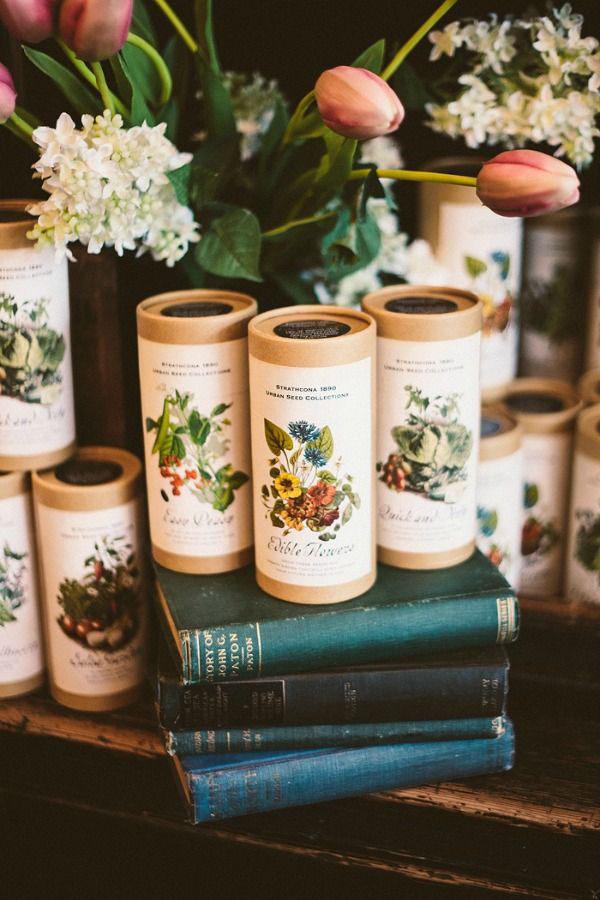semi bomboniere matrimonio botanico
