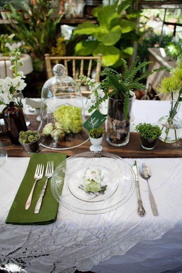 tavola matrimonio botanico