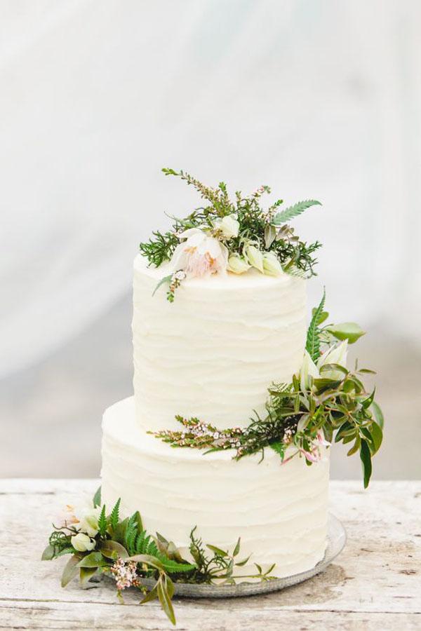 torta con foliage matrimonio botanico