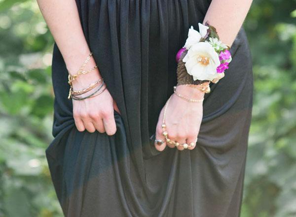 braccialetto floreale fai da te