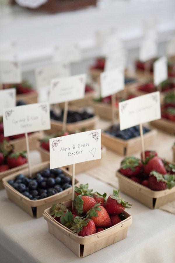 frutti di bosco come tableau de mariage