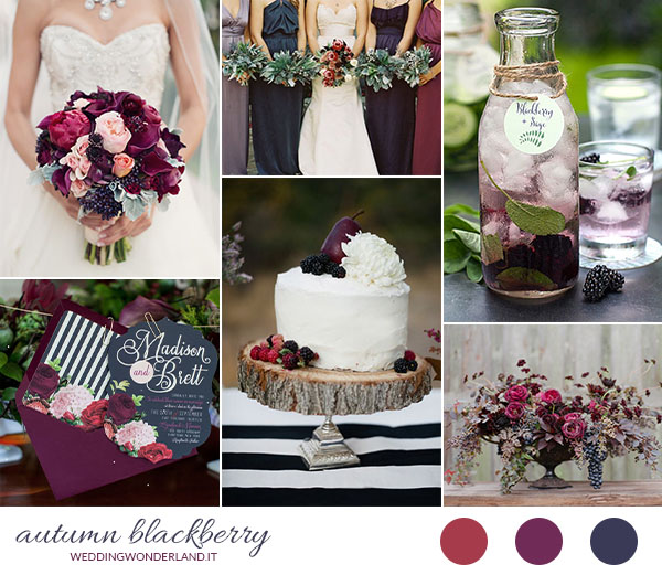 Matrimonio Tema Bosco : Inspiration board matrimonio autunnale more e borgogna