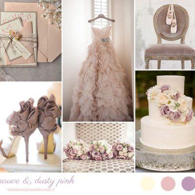 Inspiration board: Malva e rosa antico