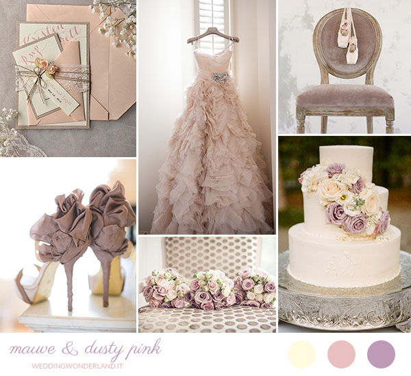 Matrimonio Tema Rosa Cipria : Matrimonio malva e rosa antico