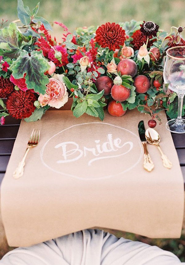 place setting carta kraft