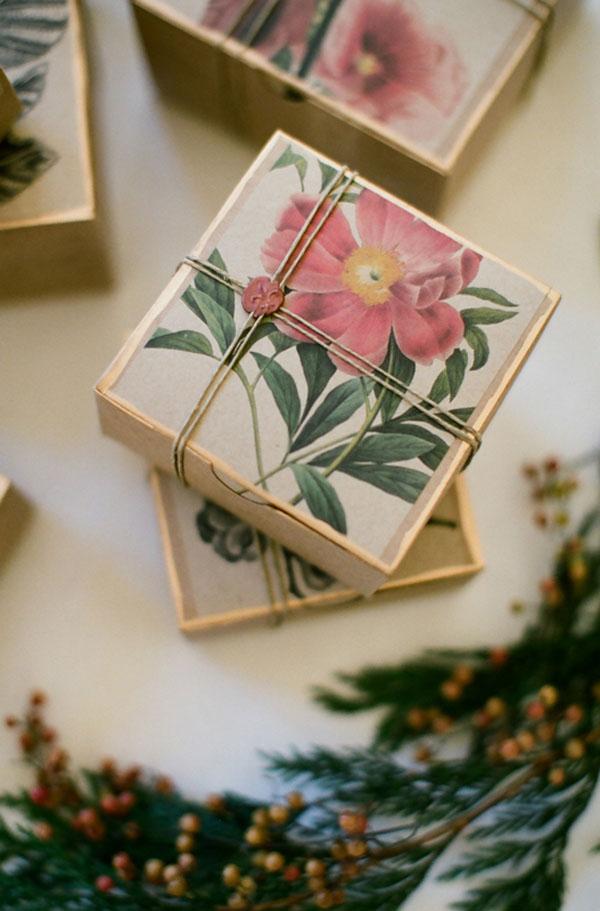 confezioni regalo botaniche fai da te