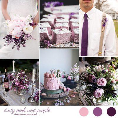 Inspiration board: Viola e rosa cipria