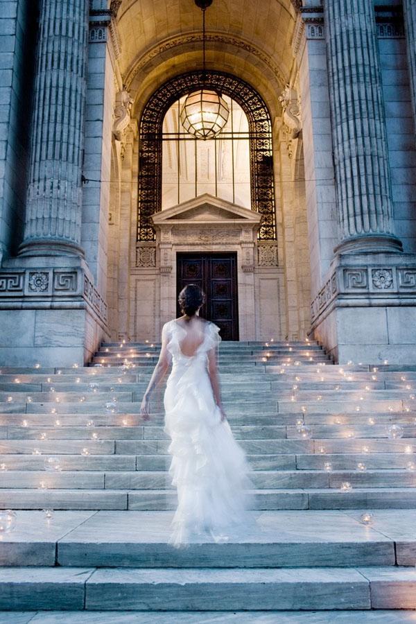 candele per un matrimonio romantico
