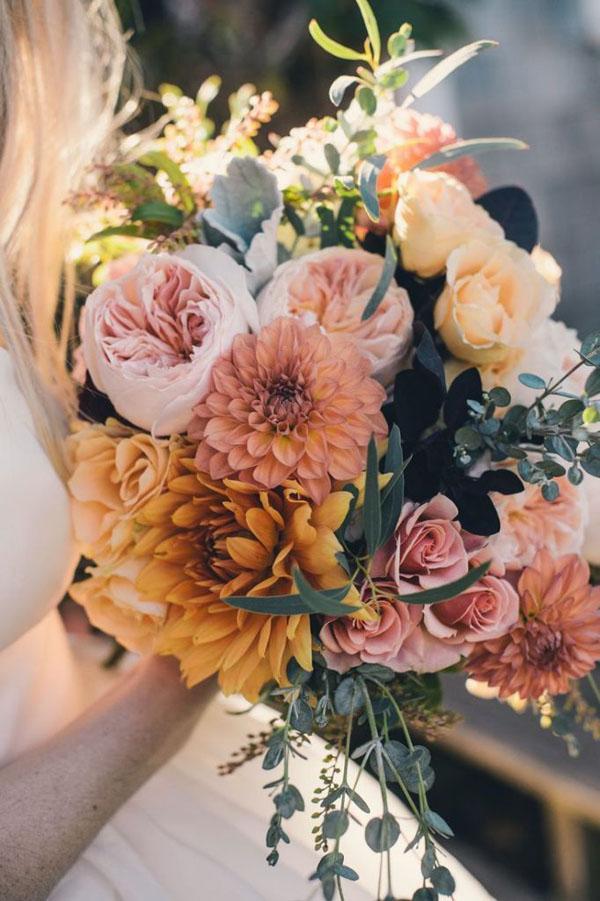 dalie fiori matrimonio autunno