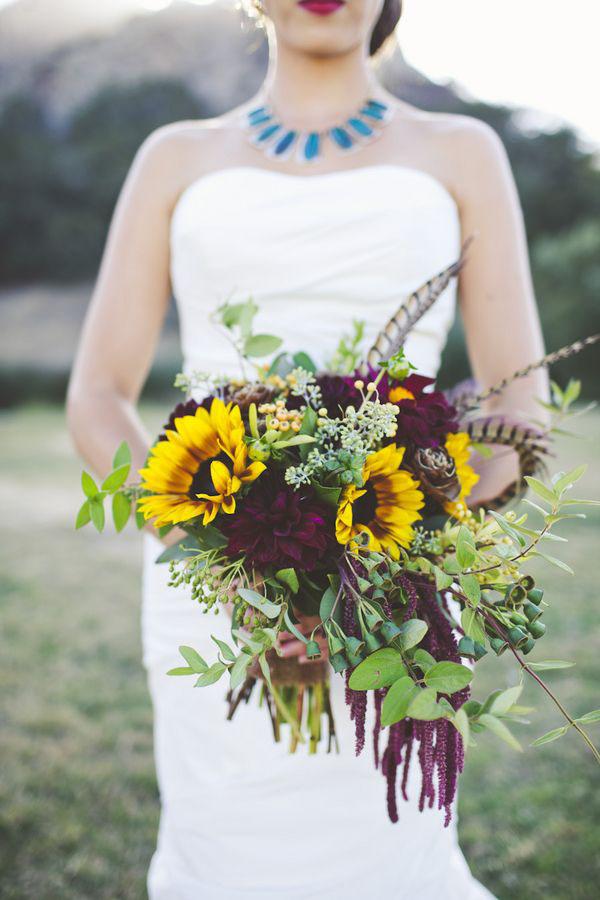 girasoli fiori matrimonio autunno