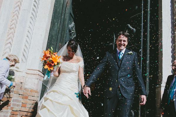 Matrimonio Tema Italia : Turchese e arancione per un matrimonio a tema viaggi