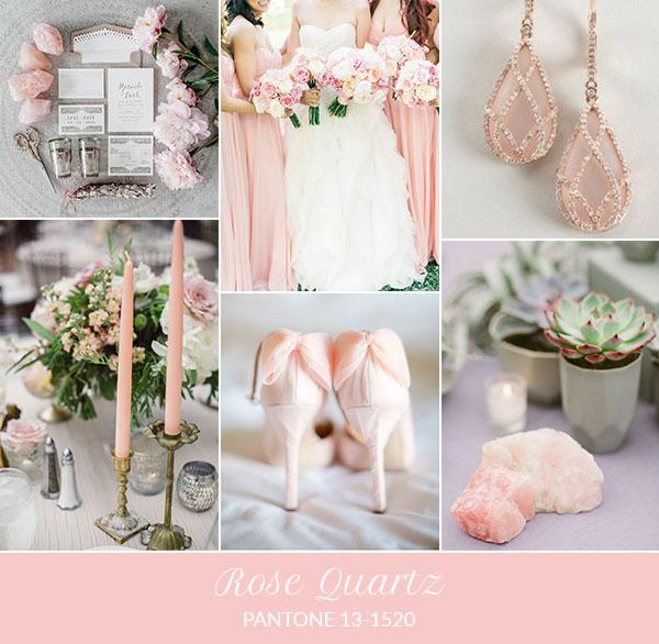 Matrimonio Tema Rose : Inspiration board rose quartz pantone primavera