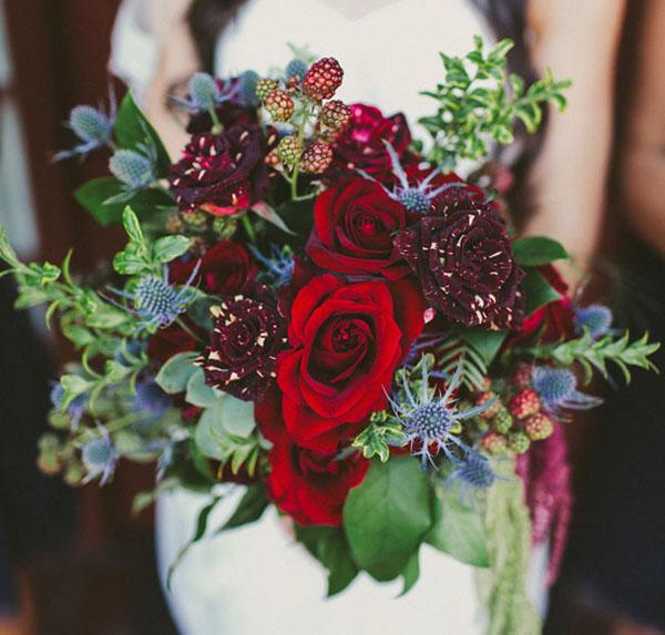 rose fiori matrimonio autunno