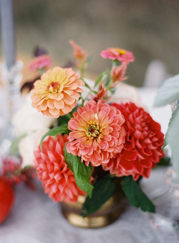 zinnia fiori matrimonio autunno