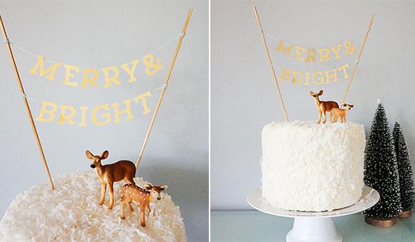 cake topper natalizio fai da te