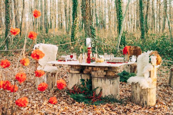 Inspiration: Un matrimonio natalizio nel bosco