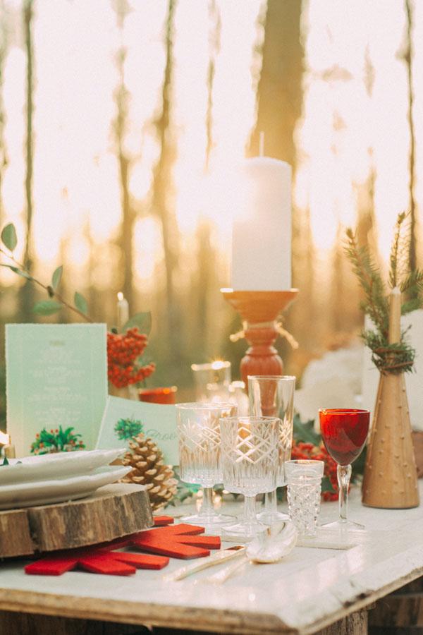 Matrimonio Bohemien Wedding : Inspiration un matrimonio natalizio nel bosco wedding